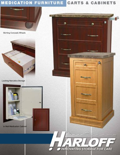 MEDICATION FURNITURE CARTS & CABINETS