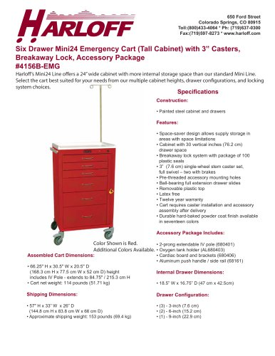 MINI24 EMERGENCY CART