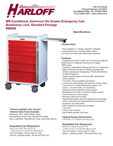 MR6B – ALUMINUM MR-CONDITIONAL CART