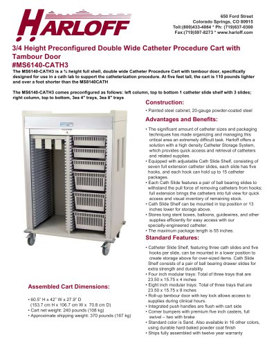 MS6140-CATH3 – DOUBLE COLUMN CATHETER PROCEDURE CART
