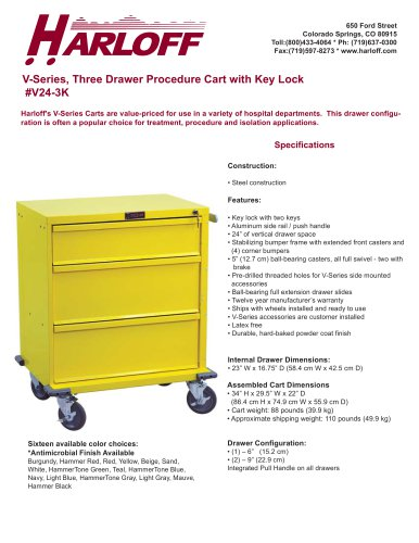V24-3K – PROCEDURE CART