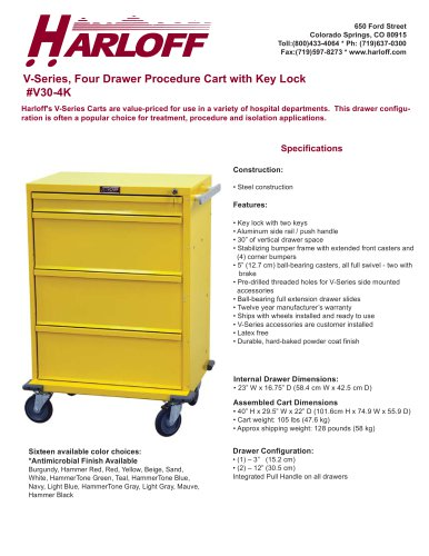 V30-4K – ISOLATION CART