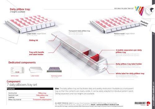 7 daily pillboxes tray set medium model