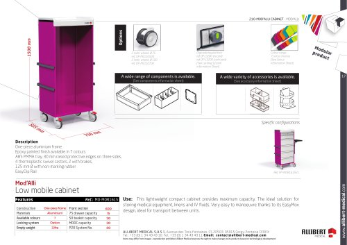 Low mobile cabinet F600