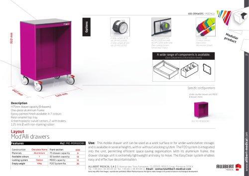 Mobile drawer unit