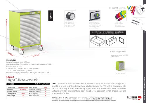 Mobile drawer unit with curtain