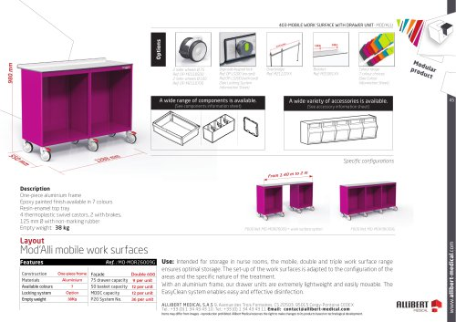 Mobile work surfaces