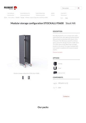 Modular storage configuration STOCKALLIF0600