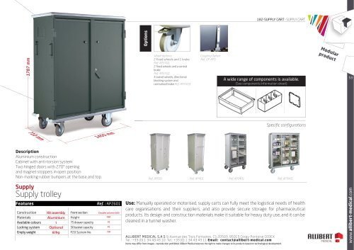 Supply trolley F0600 DOUBLE