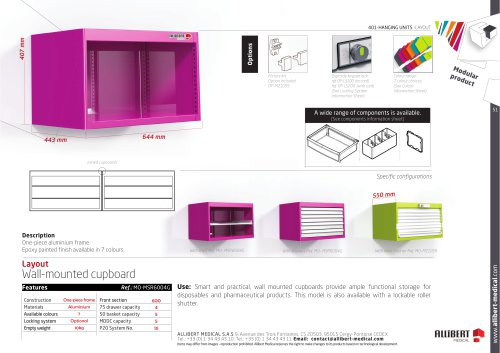 Wall-mounted cupboard