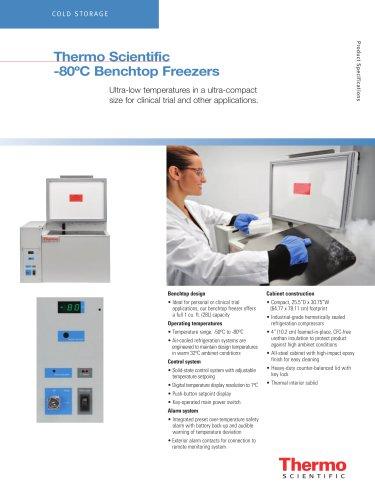 -80°C Benchtop Freezer