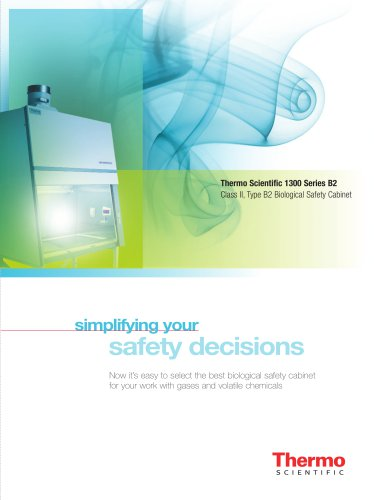 1300 Series B2 Class II, Type B2 Biological Safety Cabinet
