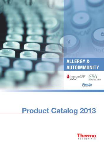 Allergy and AutoImmunity Product Catalog 2013