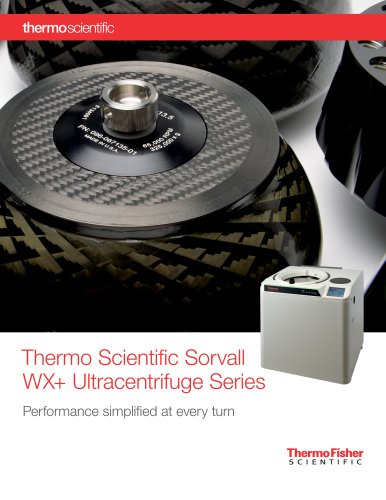 Sorvall WX+ Ultracentrifuge Series
