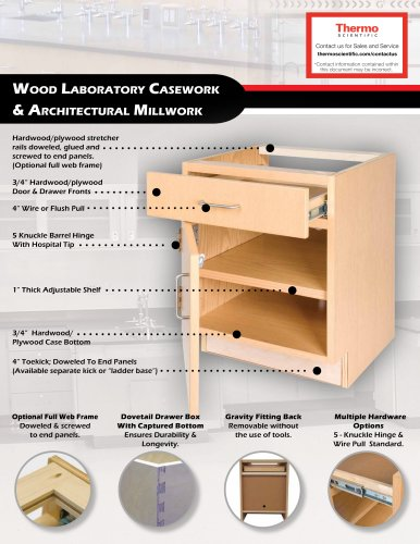 Thermo Scientific ALC and Collegedale Wood Casework Datasheet