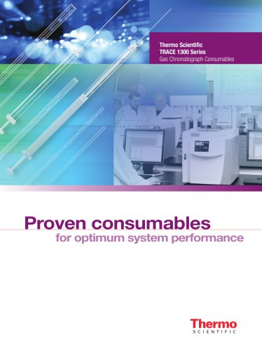 Thermo Scientific TRACE 1300 Series Gas Chromatograph Consumables
