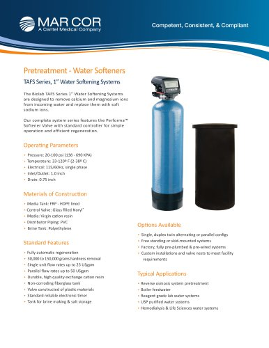 "1"" Water Softener Systems 1 to 25 USPGM"