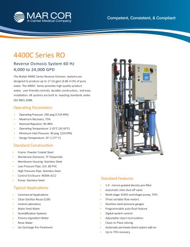 4400C Industrial RO System 4,000 to 24,000 GPD