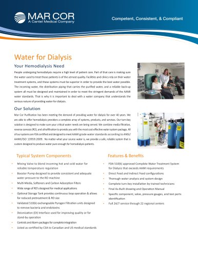 Water for Dialysis
