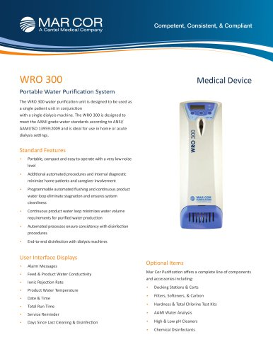 WRO 300 Water Purification System
