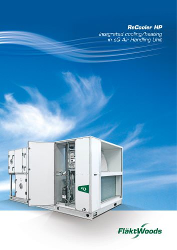 ReCooler HP Integrated cooling/heating in eQ Air Handling Unit