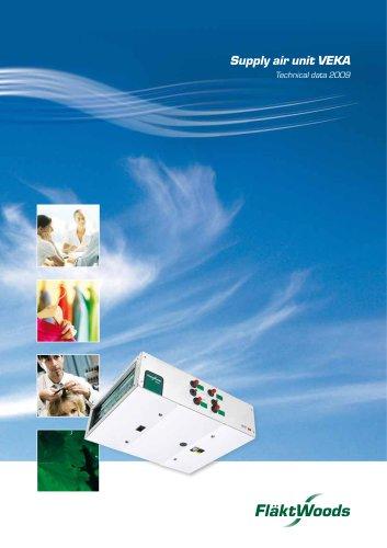 Supply air unit VEKA Technical data 2009