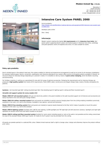 Intensive Care System PANEL 2000