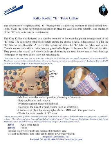 """Kitty Kollar """"E"""" Tube Collar"""