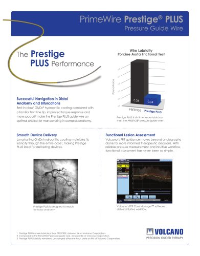PrimeWire Prestige® PLUS Pressure Guide Wire data sheet