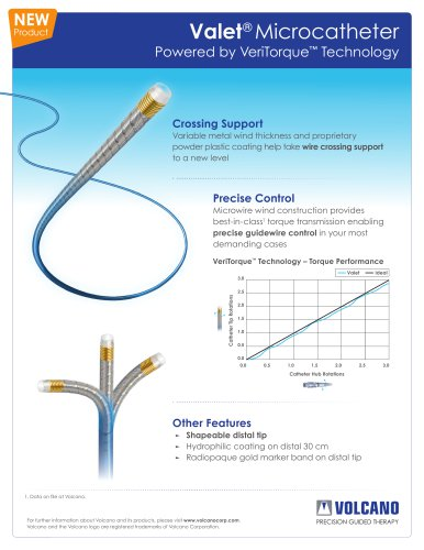 Valet® Microcatheter data sheet