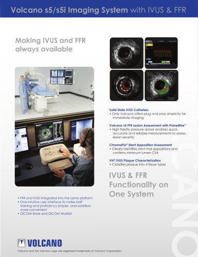 Volcano s5/s5i Imaging System with IVUS & FFR