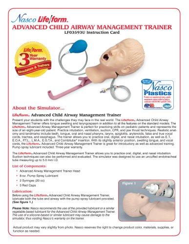 LF03593U ADVANCED CHILD AIRWAY MANAGEMENT TRAINER