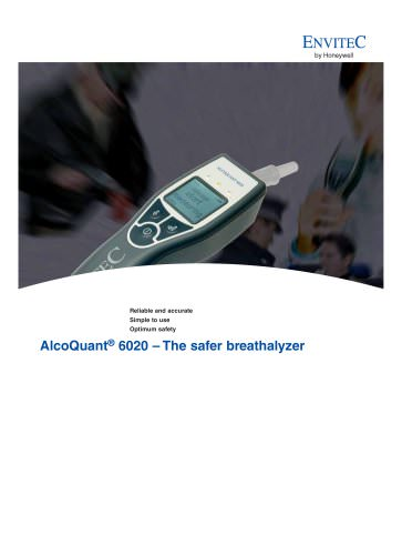 Data Sheet for Breath Alcohol Test Devices - AlcoQuant® 6020