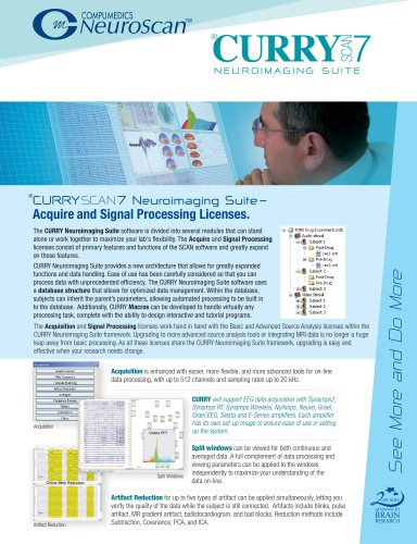 CURRY 7 Acquire and Signal processing Brochure