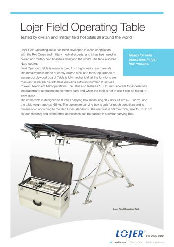 Field Operating Table