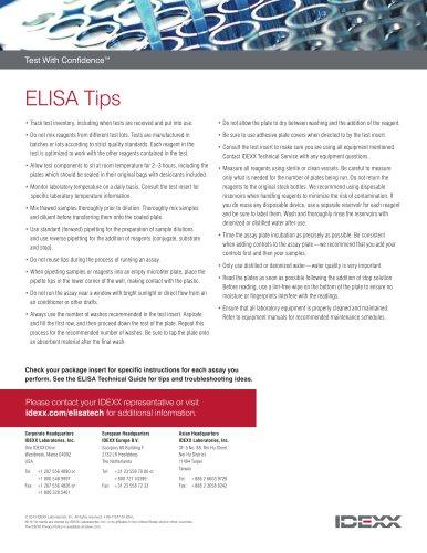 ELISA Tips