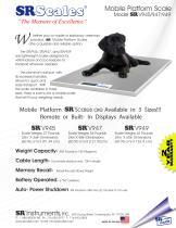 SRV945 Mobile Platform Animal Scale