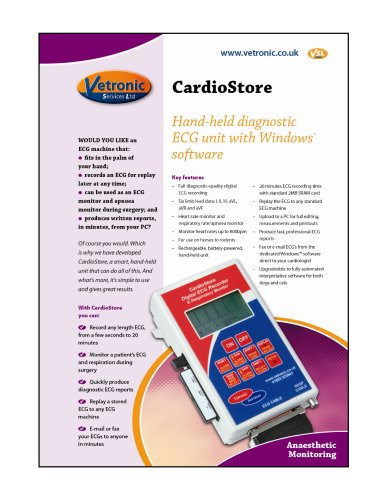 CardioStore Specification Details