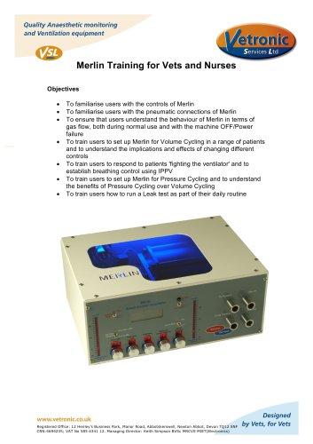 Merlin Training for Vets and Nurses 2014