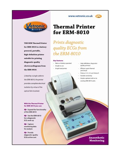 Thermal Printer for ERM-8010 Specification Details