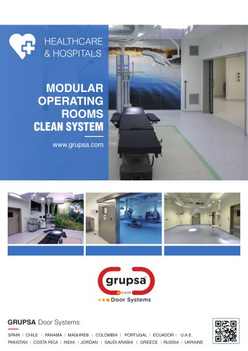 MODULAR OPERATING ROOMS CLEAN SYSTEM