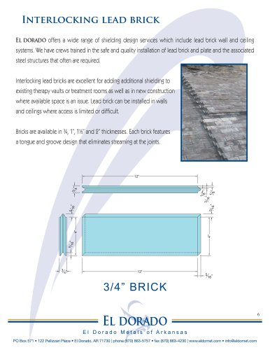 Interlocking Lead Brick