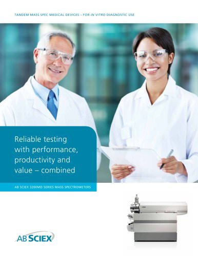 AB SCIEX 3200MD Series Mass Spectrometers