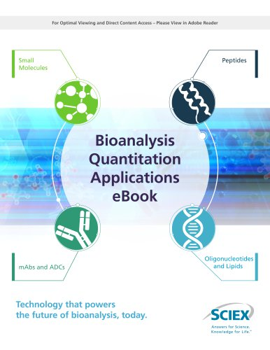 Bioanalysis Quantitation Applications eBook