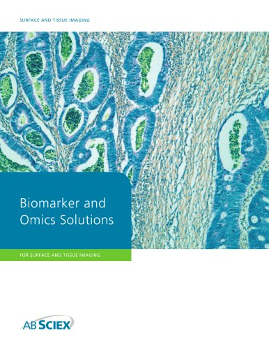 Biomarker and Omics Solutions for Surface and Tissue Imaging