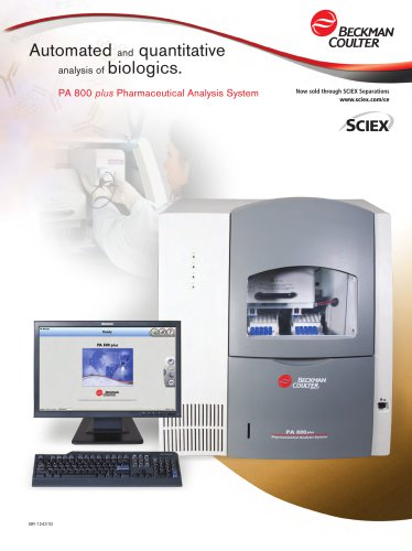 PA 800 plus Pharmaceutical Analysis System Brochure (BR-12431)