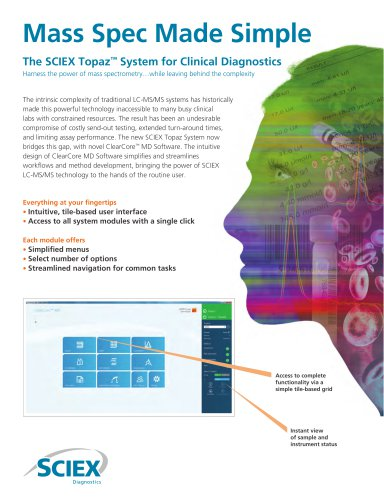 The SCIEX Topaz™ System for Clinical Diagnostics