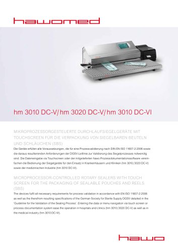 hawo hm 3010 DC-V/ hm 3020 DC-V/ hm 3010 DC-VI