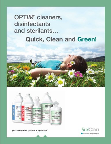 OPTIM cleaners, disinfectants and sterilants...