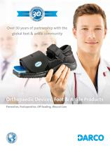 Orthopaedic Devices, Foot & Ankle Products